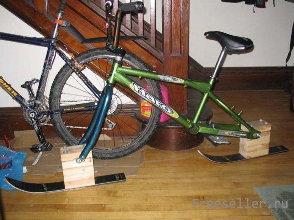 Зимний велосипед своими руками