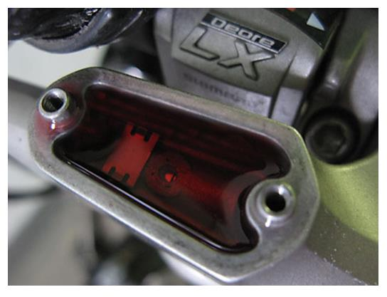 Тормозная жидкость в ручке тормоза