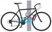 Схема пристегивания велосипеда