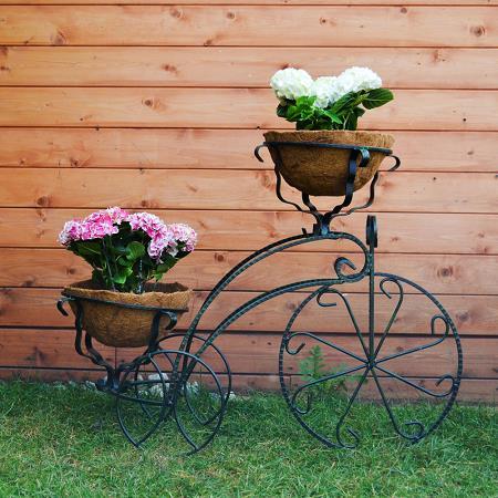 фото подставка кованая в виде велосипеда