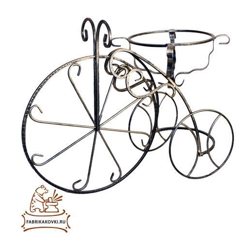 фото Подставка садовая велосипед