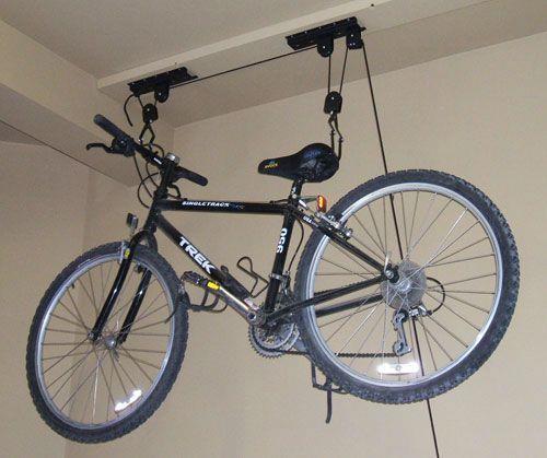 крепление велосипеда под потолком