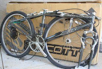 велосипед Scott в заводской коробке