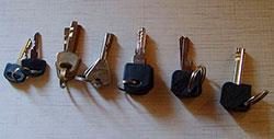 Ключи подготовлены для открывания замков.