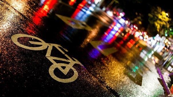 Велосипед, дождь, ночь