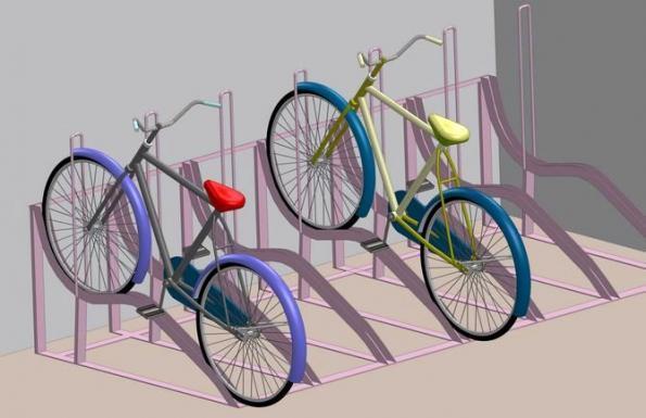 велосипед на подставке