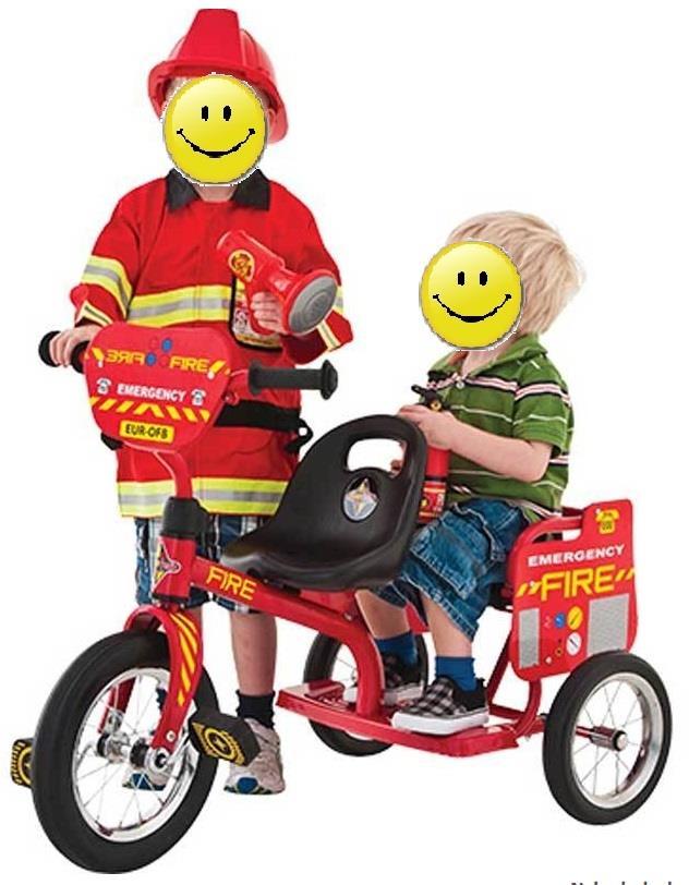 велосипед для двойни Eurotrike Fire Tandem красный