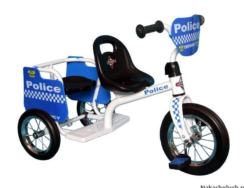 велосипед для двойни Eurotrike Fire Tandem Trike синий