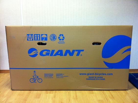 Коробка с горным велосипедом