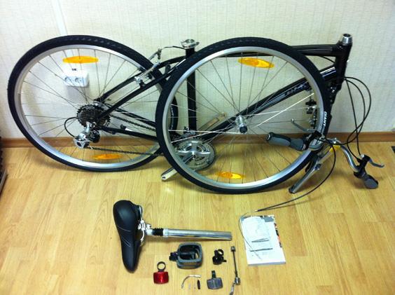 Подготовка велосипеда к сборке
