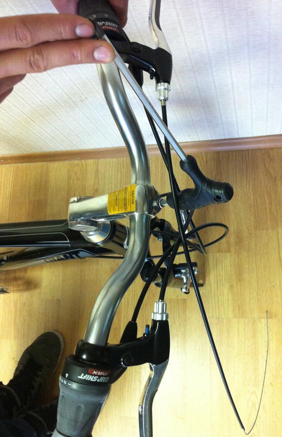 Регулировка наклона велосипедного руля