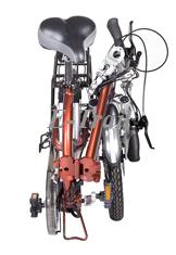Складной электровелосипед двухподвес Motus 2P350 в сложенном состоянии