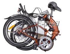 Складной велосипед двухподвес Motus 2P350 в сложенном состоянии