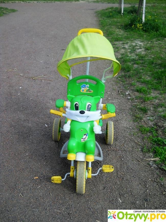 Детский трехколесный велосипед с ручкой Elit A14-2 реальные отзывы