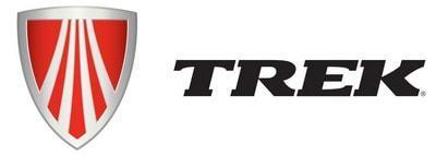 trek чёрный логотип бренда велосипедов