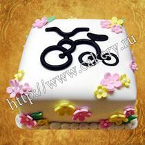 сладкий подарок для велосипедиста