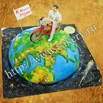 торт в виде велосипеда