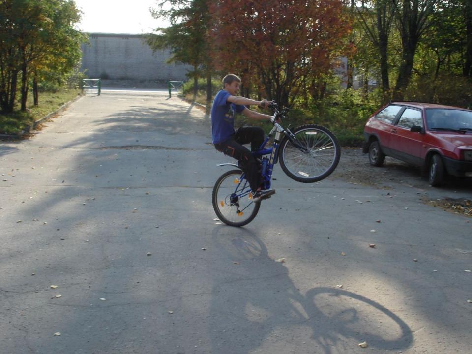 Выкатывание велосипеда