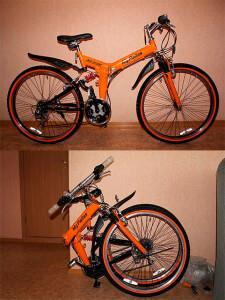 складной горный велосипед для перевозки в машине или общественном транспорте