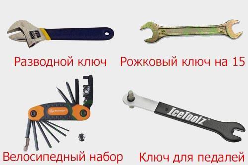 Ключи для снятия педалей велосипеда