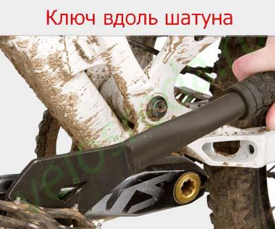 Снятие педалей велосипеда