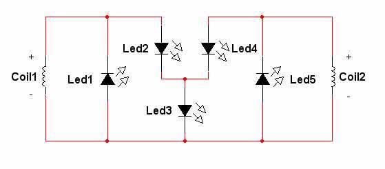 Схема питания фонаря от динамо-машины