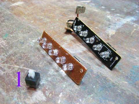 Выключатель и схема со светодиодами