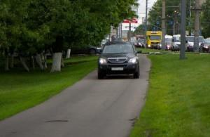 Езда по тротуару