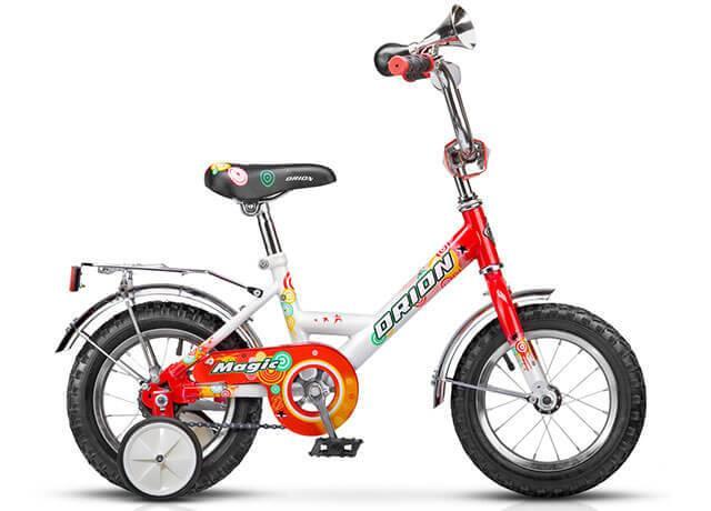 Детский велосипед с дополнительными колесиками Orion Magic