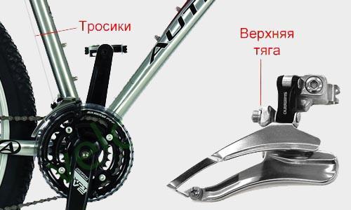 Передний переключатель скоростей с верхней тягой