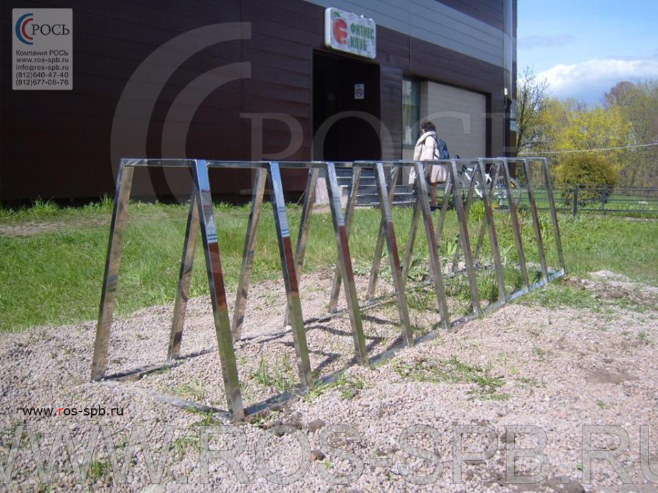 Велопарковка для фитнес центра на 10 велосипедов