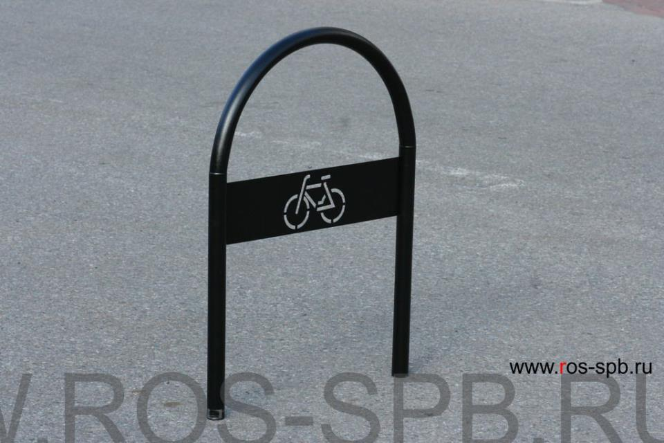 Велопарковка РОСЬ из черной стали