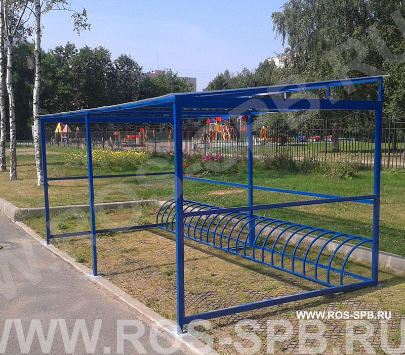 Велопарковка с крышей