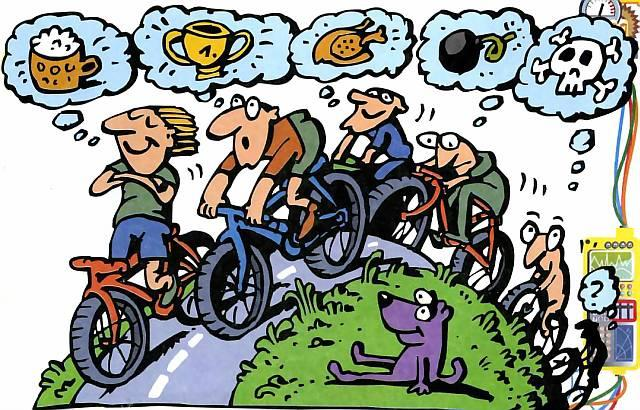 Смешные картинки про велосипед