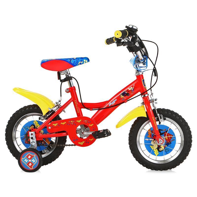 """Велосипед Navigator Super Hero Girls, колеса 12, красный (ВН12099)Велосипеды двухколесные<br />Детский велосипед обеспечивает максимальную безопасность иудобство начинающим покорителям двухколесного транспорта. Онтакже оборудован дополнительными съемными боковыми колесами, которые позволят ребенку удерживать равновесие, ипридадут уверенности впоездках.<br />Дополнительно: Страховочные колёса. Система торможения: Ободная. Количество скоростей велосипеда: 1. Цвет: Красный. Материал руля: Сталь. Дополнительно: Защита цепи. Диаметр колес: 12. Дополнительно: Звонок. Материал вилки: Сталь. Состояние: Вкоробке. Дополнительно: Крылья. Дополнительно: Щиток наруле. Обратите внимание: Транспортировочная упаковка может иметь незначительные дефекты, обусловленные особенностями транспортировки, невлияющие накачество изделия Товар поставляется втранспортировочной упаковке вразобранном виде.. Материал рамы: Сталь. Назначение: от2до4лет. Явыбираю: Выгодный. """" title=""""Велосипед Navigator Super Hero Girls, колеса12, красный (ВН12099)«></div> <p>Велосипеды двухколесныеДетский велосипед обеспечивает максимальную безопасность иудобство начинающим покорителям двухколесного транспорта. Онтакже оборудован дополнительными съемными боковыми колесами, которые позволят ребенку удерживать равновесие, ипридадут уверенности впоездках.Дополнительно: Страховочные колёса. Система торможения: Ободная. Количество скоростей велосипеда: 1. Цвет: Красный. Материал руля: Сталь. Дополнительно: Защита цепи. Диаметр колес: 12. Дополнительно: Звонок. Материал вилки: Сталь. Состояние: Вкоробке. Дополнительно: Крылья. Дополнительно: Щиток наруле. Обратите внимание: Транспортировочная упаковка может иметь незначительные дефекты, обусловленные особенностями транспортировки, невлияющие накачество изделия Товар поставляется втранспортировочной упаковке вразобранном виде.. Материал рамы: Сталь. Назначение: от2до4лет. Явыбираю: Выгодный. <strong>Подробнее >>></strong><br /> <span id="""