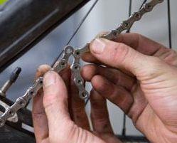 измерение цепи велосипеда