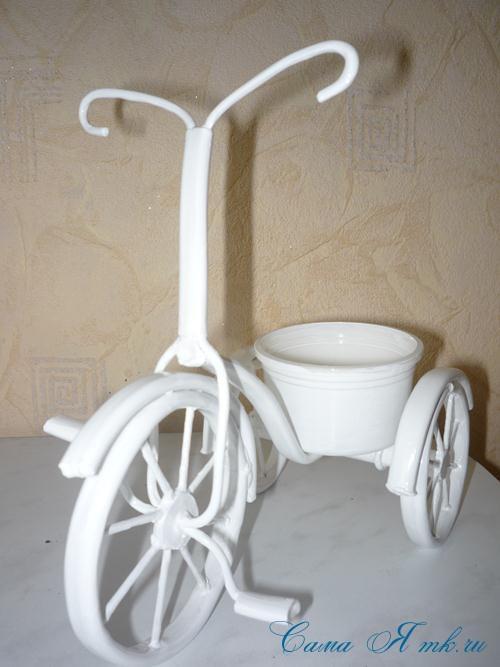 велосипед из проволоки с педалями