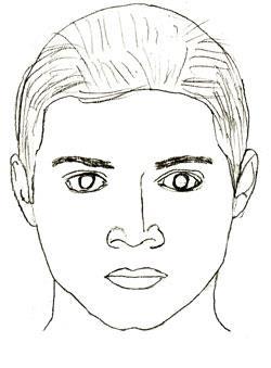 Как нарисовать лицо человека поэтапно (5)