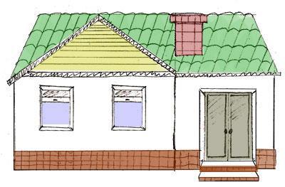 Как нарисовать поэтапно карандашом домик