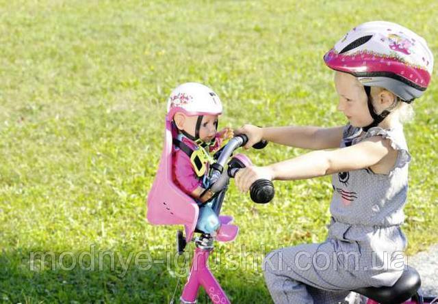 Кресло на велосипед для куклы 43см play & fun baby born zapf