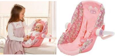 Кресло-переноска для куклы baby annabell zapf creation 792889
