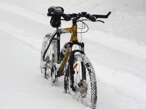 Вело в снегу