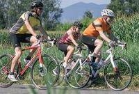 езда на шоссейном велосипеде