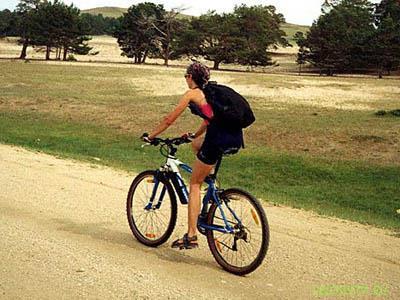 Туристическая посадка на велосипеде
