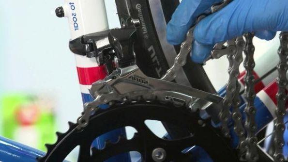 замена цепи велосипеда
