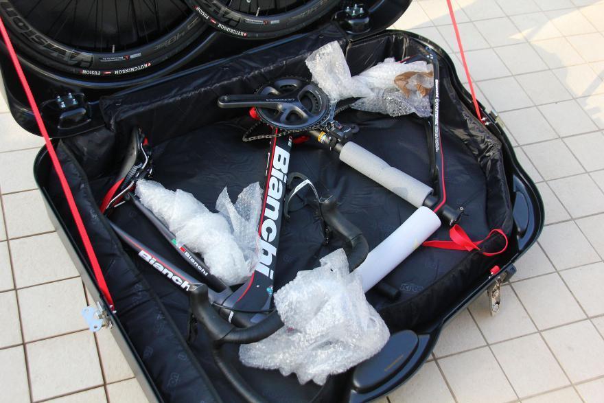 Упаковка велосипедной рамы