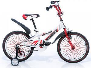 """Детский велосипед Azimut 14"""" Crossere с дополнительными колесами"""