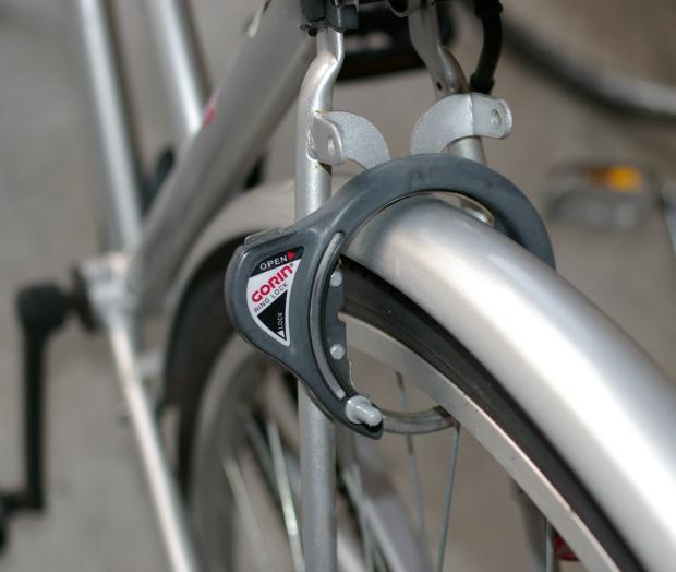 Велозамок на колесо