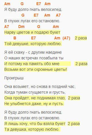 Букет - Барыкин - текст и аккорды