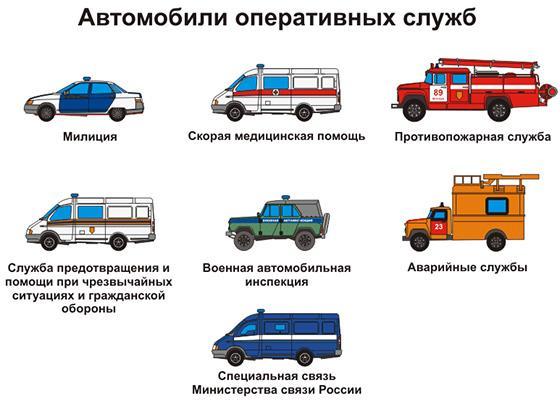 автомобили аварийных служб